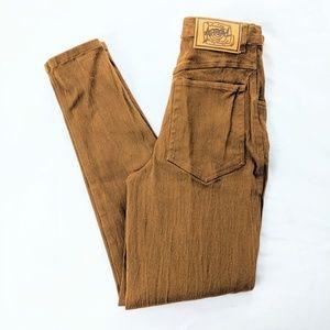 Super High Waist Mustard Yellow VTG Stretch Jeans